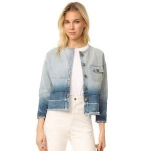 Current/Elliot Distressed Ombre Jean Jacket NWT